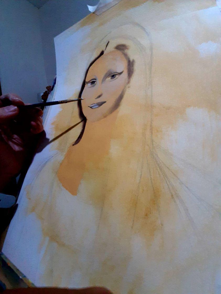 Un esempio su come dipingere la Gioconda. Tutorial aggiornato a puntate su Nuove Vedute.